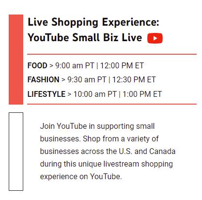 YouTube Small Biz Day