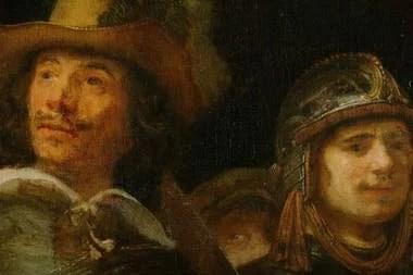 Detalle de La ronda de noche, de Rembrandt (pintada entre 1640 y 1642)