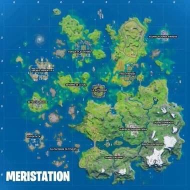 El nuevo mapa de la isla, tal como aparecerá al principio de la temporada 3; en teoría, las aguas irán bajando con el paso del tiempo para mostrar más edificaciones y caminos