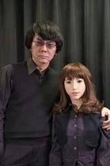 La robot Erica junto a Hiroshi Ishiguro, uno de sus creadores