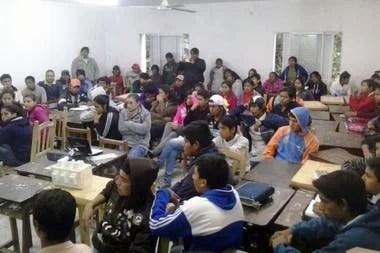 Una clase en Escuela Cacique Francisco Supaz antes de la cuarentena