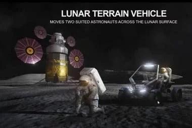 Una vista del LTV, uno de los dos vehículos que utilizarán los astronautas en la Luna