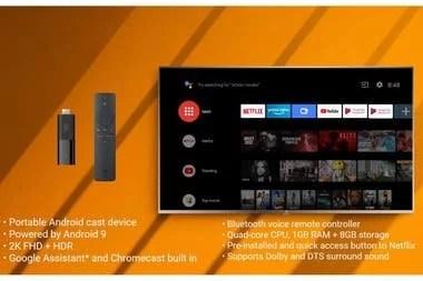 Las características del Xiaomi Mi TV Stick