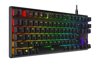 Un teclado HyperX Switch Blue Alloy Origins
