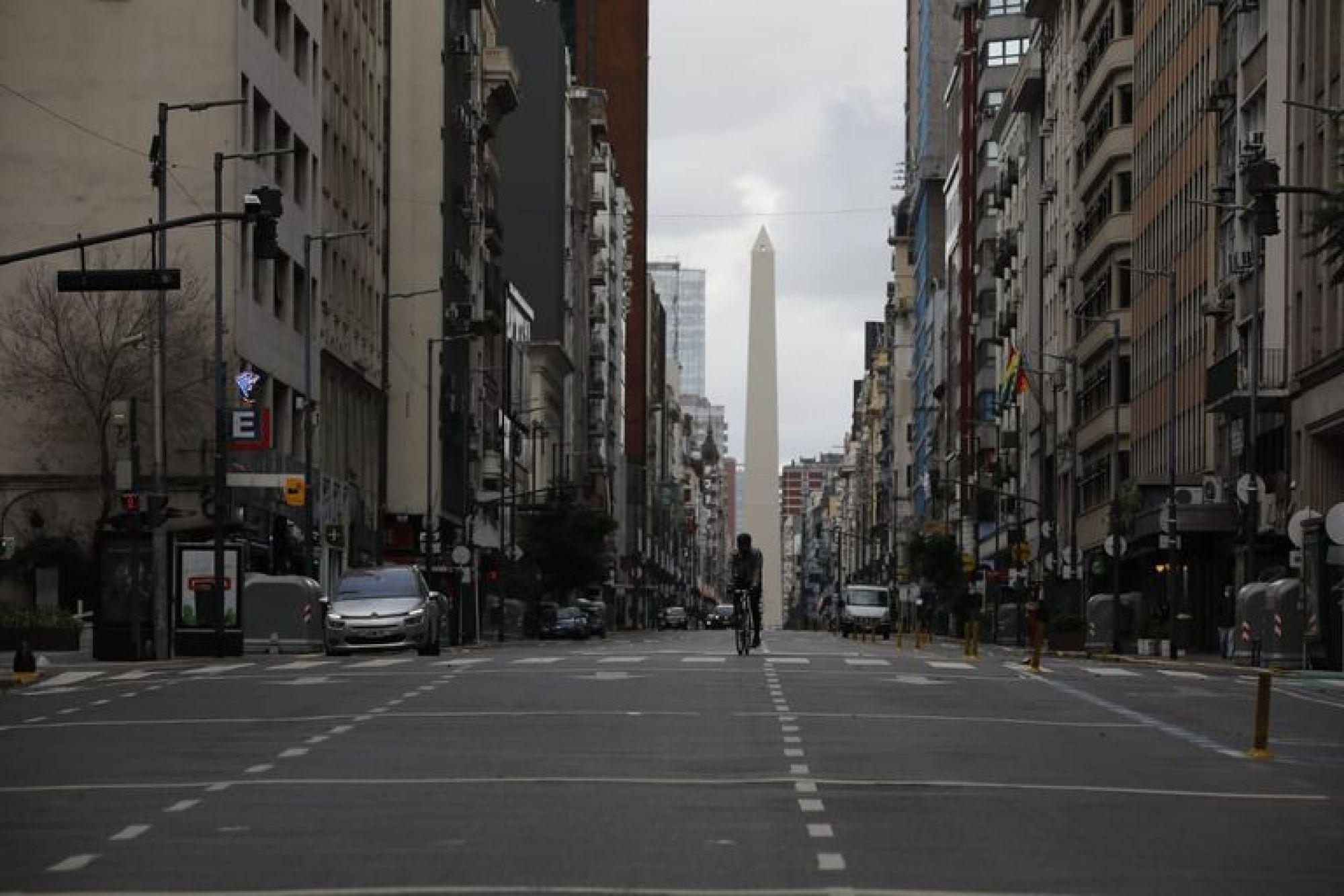 La ciudad de Buenos Aires, vacía hoy en la nueva etapa de restricciones