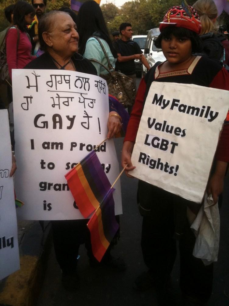 diritti LGBT in india dimostrazioni