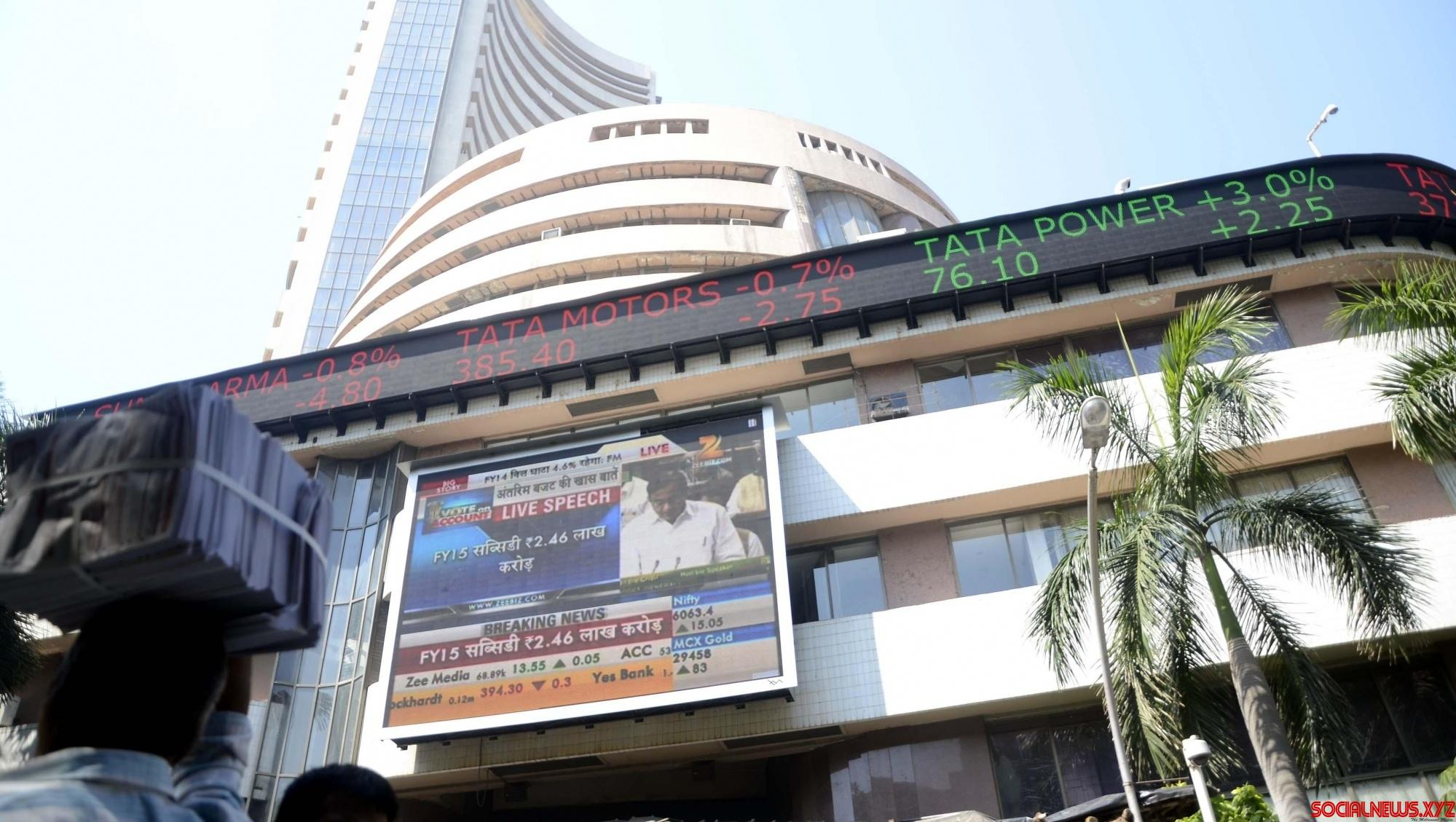 Sensex flat ahead of key macro figures release