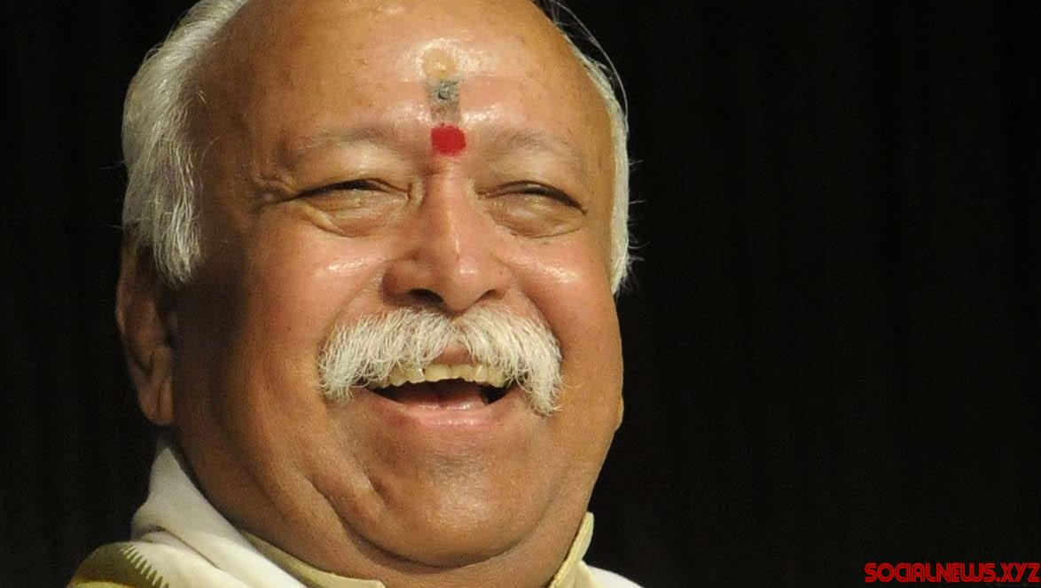 Car in RSS chief's convoy overturns