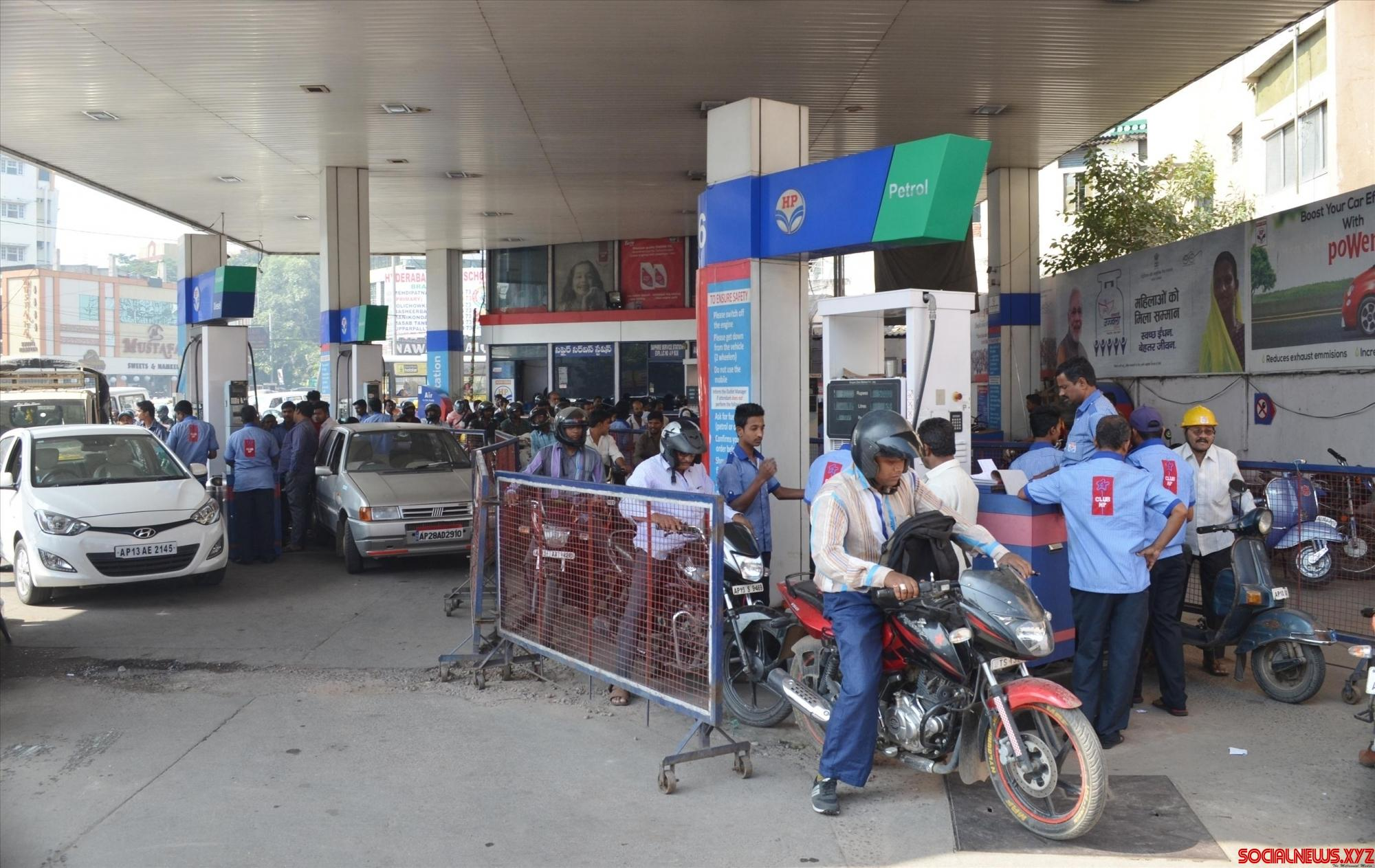 People flock to Mother Dairy, petrol pumps after