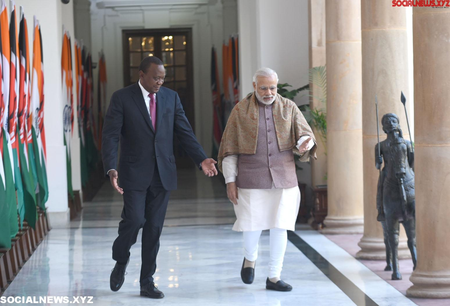 New Delhi: Modi with Kenyan President