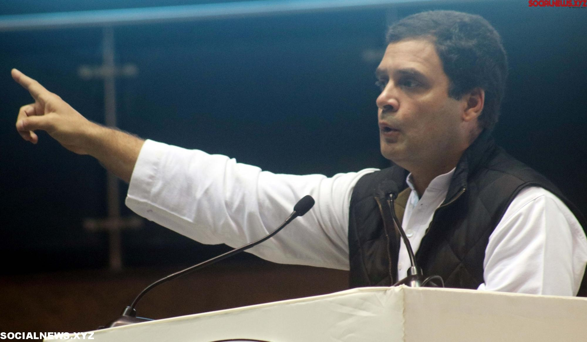 Rahul mocks Modi, promises 'acche din' with Congress' return to power