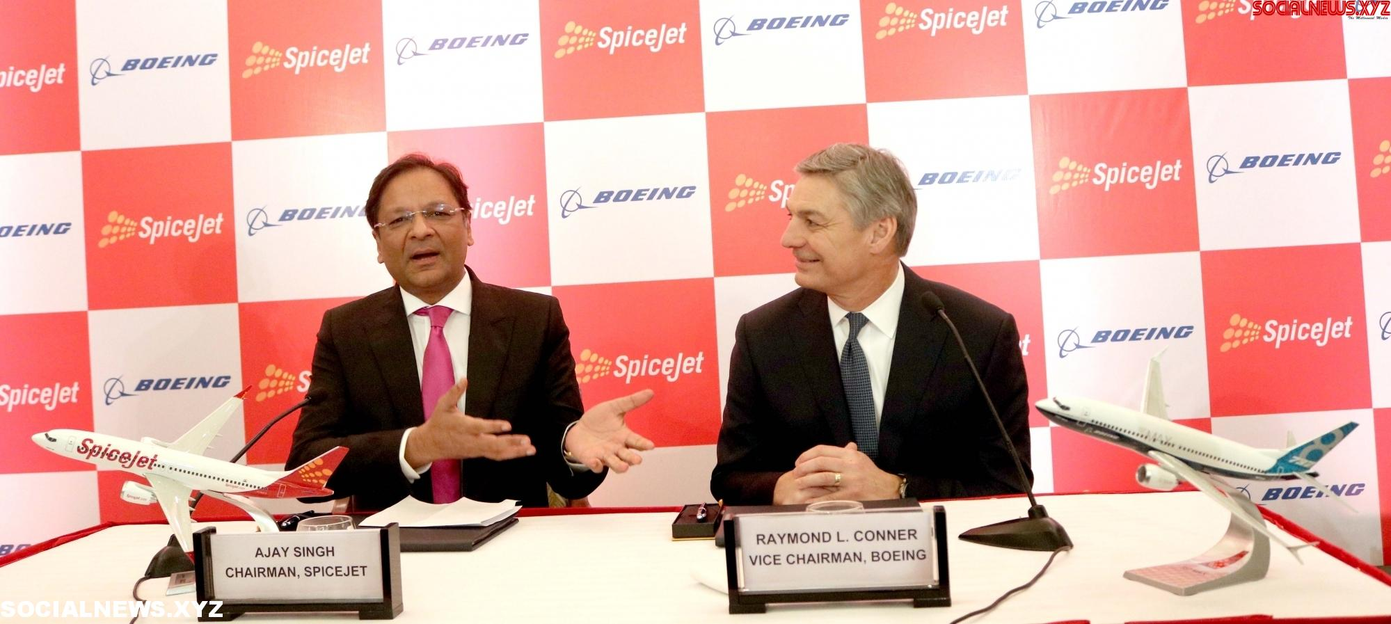 New Delhi: SpiceJet Boeing press conference - Social News XYZ