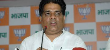 Patna: BJP leader Bhupender Yadav during a press conference in Patna, on July 23, 2015. (Photo: IANS)