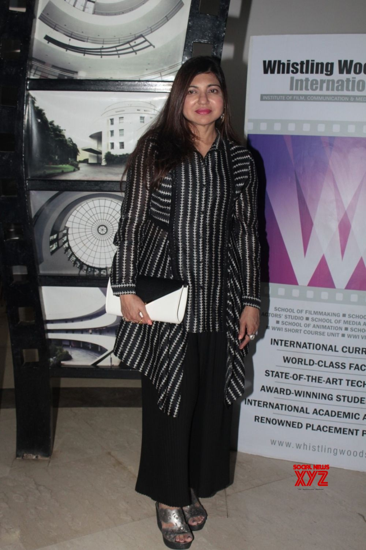 Mumbai Singer Alka Yagnik Visit At Whistling Woods International Institute Social News Xyz
