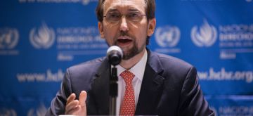 (151008) -- MEXICO CITY, Oct. 8, 2015 (Xinhua) -- Zeid Ra'ad Al Hussein, United Nations (UN) High Commissioner for Human Rights, speaks at a press conference in Mexico City, capital of Mexico, on Oct. 7, 2015. According to local press, Zeid Ra'ad Al Hussein requested the Mexican government to implement the recommendations of the Interdisciplinary Group of Independent Experts (IGIE), designated by the Inter-American Comission on Human Rights (IACHR), on the case of the missing students of Ayotzinapa. (Xinhua/Pedro Mera)