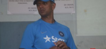 Mumbai: Under-19 Indian cricket team coach Rahul Dravid during a practice session at Wankhede Stadium in Mumbai, on Jan 29, 2017. (Photo: IANS)