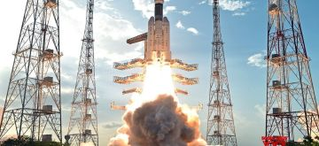 Sriharikota: India's brand new and heaviest rocket - the Geosynchronous Satellite Launch Vehicle-Mark III (GSLV-Mk III) - with the 3,136 kg communication satellite GSAT-19 on board blasts off from the Sriharikota spaceport on June 5, 2017. (Photo: IANS/ISRO)