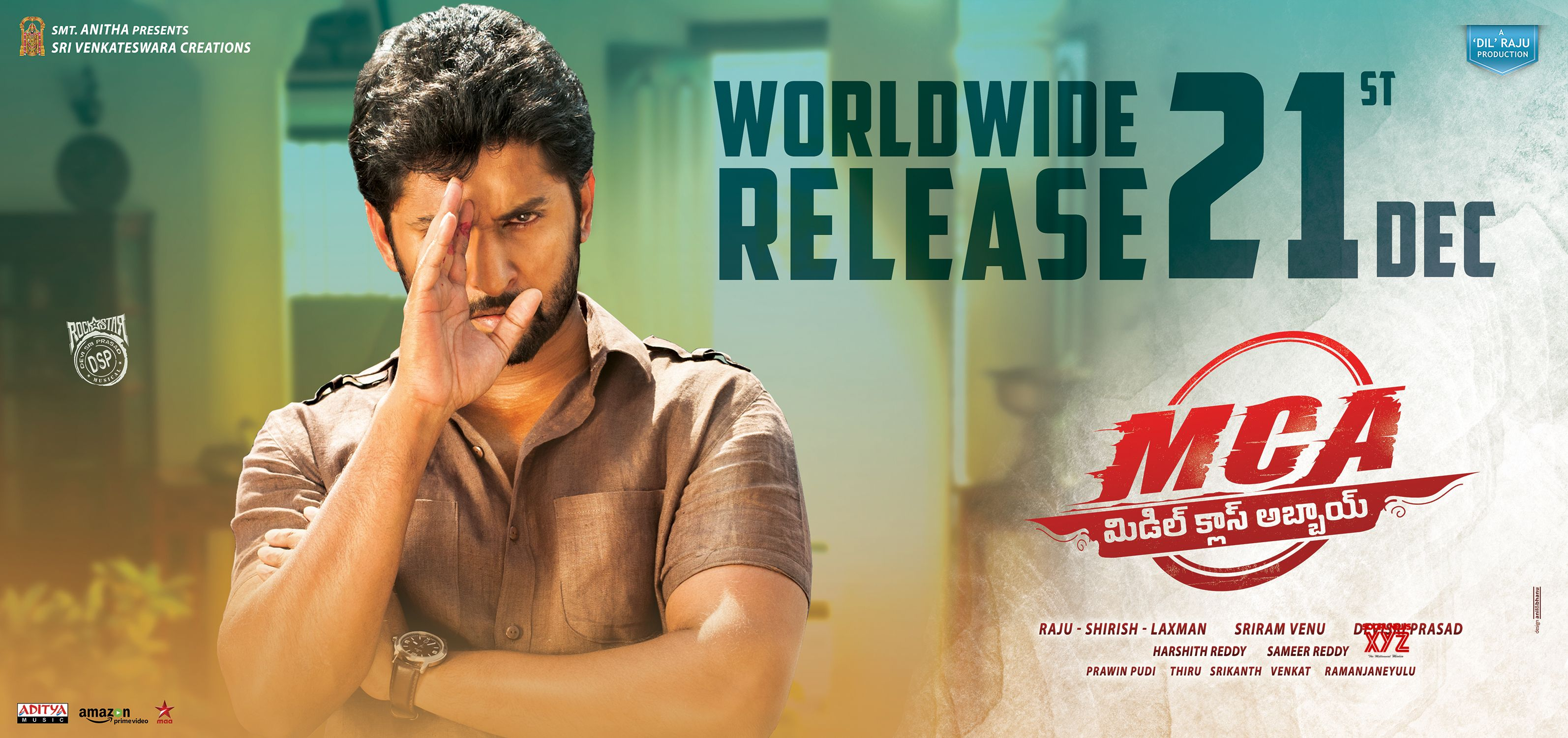 mca middle class abbayi movie posters