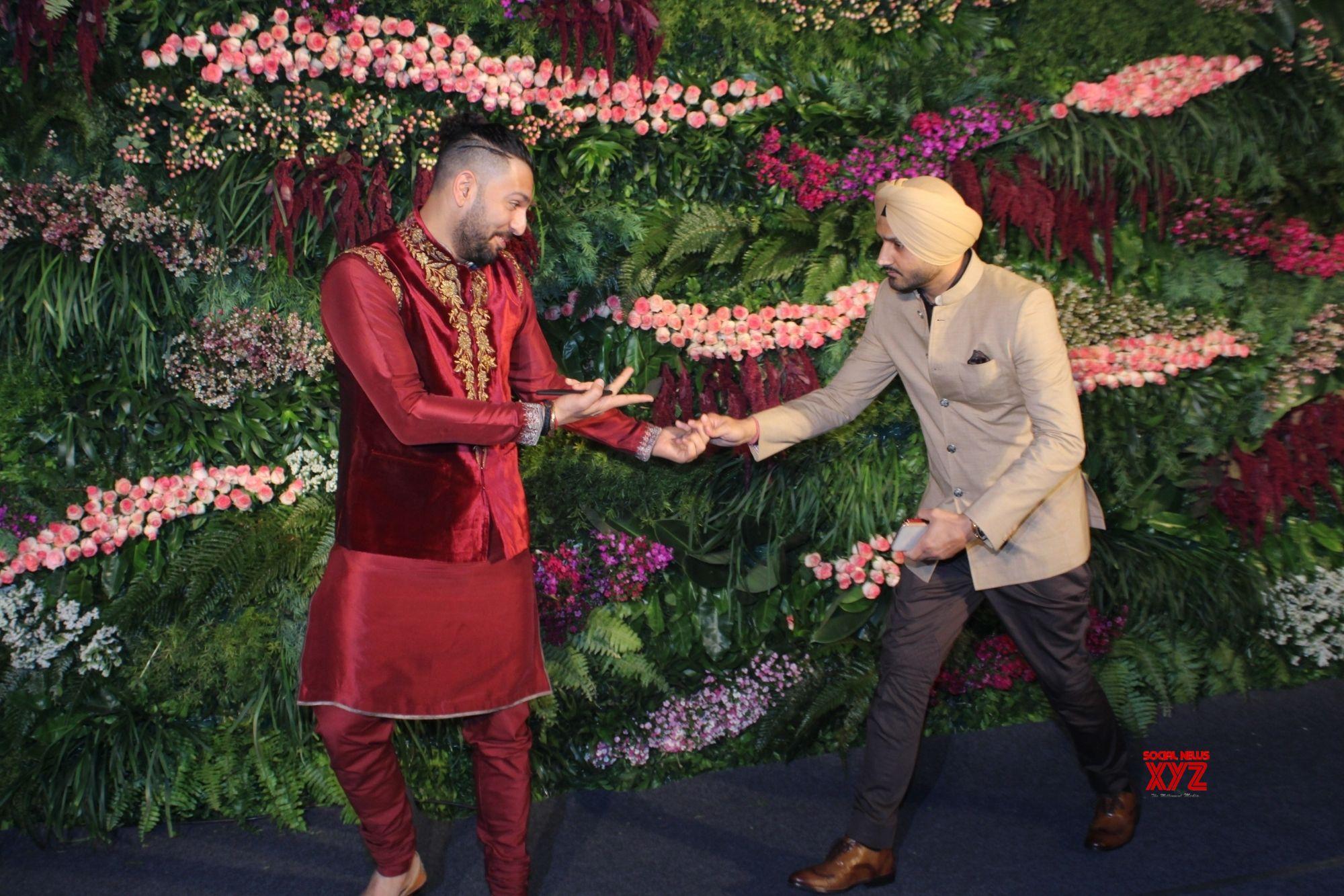 Mumbai: Virat Kohli   Anushka Sharma's wedding reception   Yuvraj Singh and Harbhajan Singh