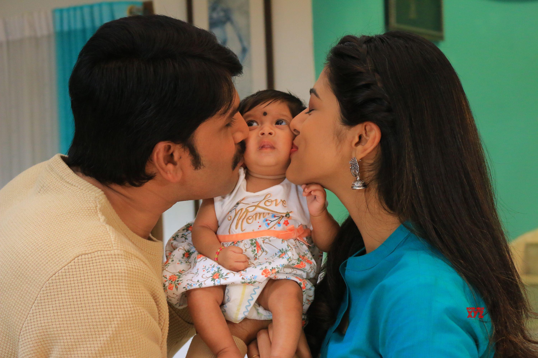 Actor Srinivas Reddy's One Month Old Daughter Stills From Jamba