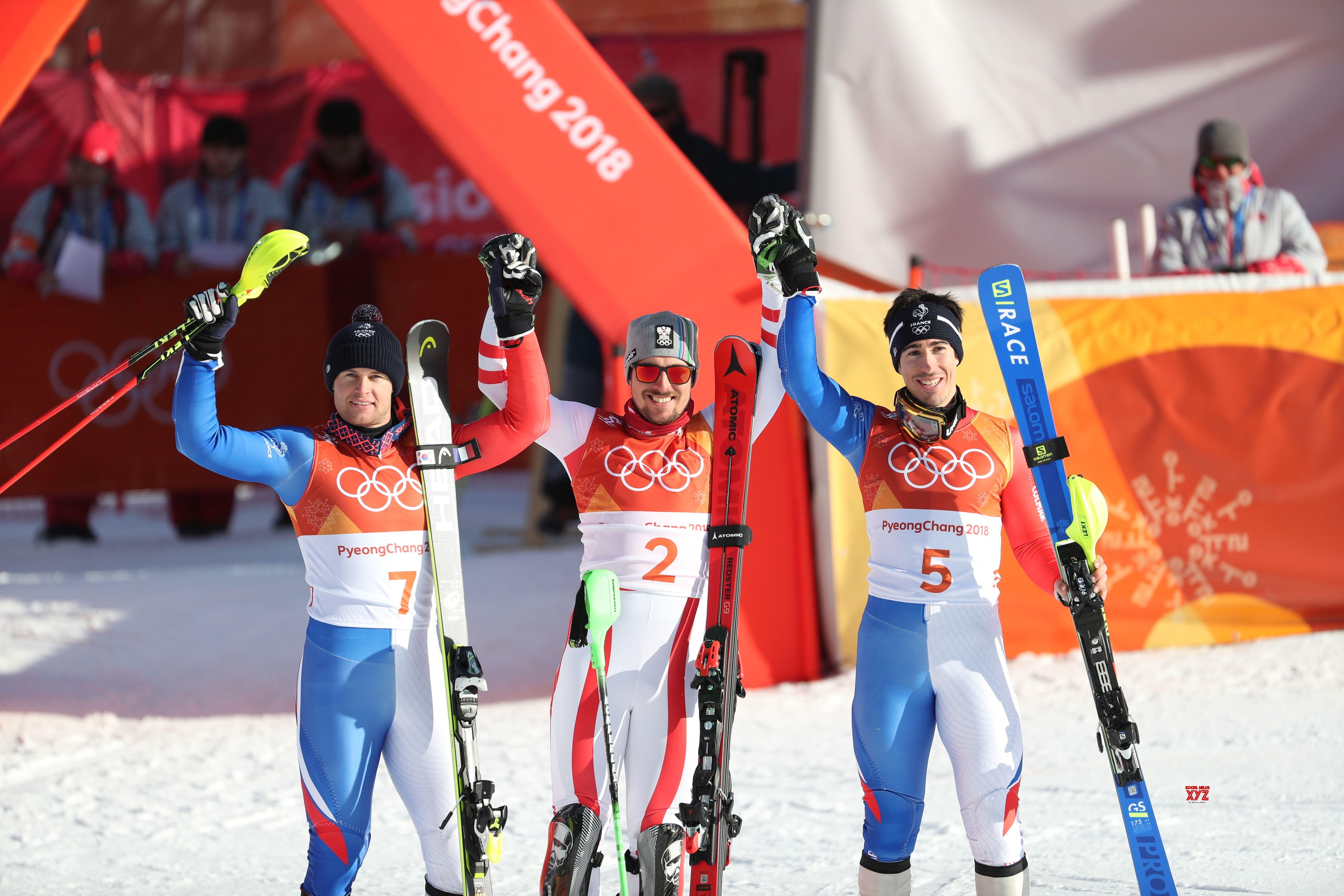 Austria's Hirscher takes gold in Men's Alpine combined