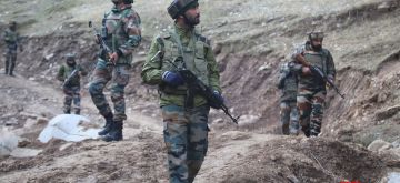 Baramulla: Security beefed up near Line of Control (LoC) in Churanda village of Jammu and Kashmir's Uri a day after Indian and Pakistani troops traded heavy fire across the LoC in Baramulla, on Feb 20, 2018. (Photo: IANS)
