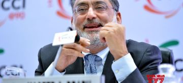 New Delhi: Jammu and Kashmir Finance Minister Haseeb Drabu addresses at Federation of Indian Chambers of Commerce and Industry (FICCI) 90th annual general meeting in New Delhi on Dec 14, 2017. (Photo: IANS)