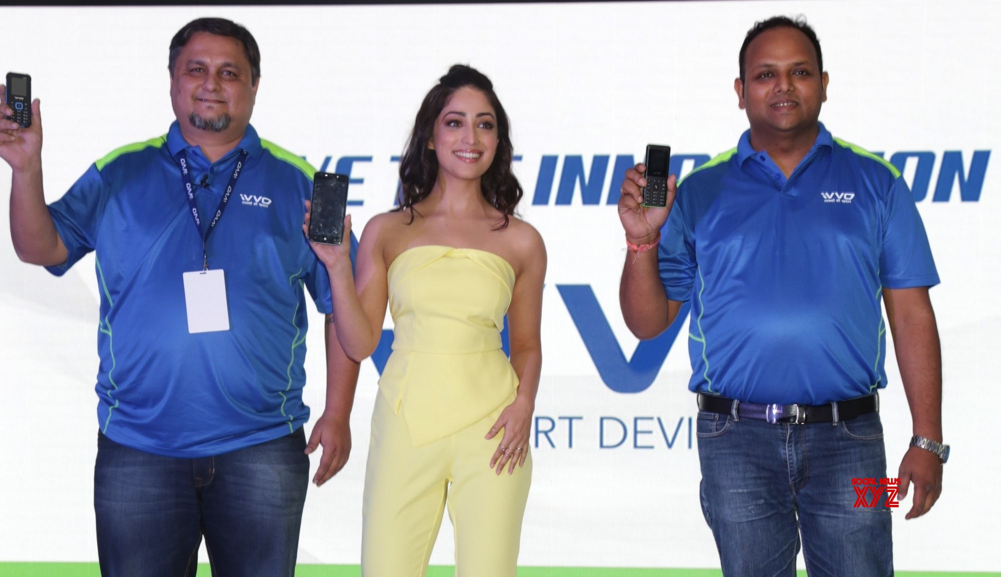 "New Delhi: Yami Gautam launches iVVO's new smart phone ""Britzo"" #Gallery"