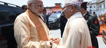 Janakpur: Prime Minister Narendra Modi and Nepalese Prime Minister KP Sharma Oli at Janaki Mandir in Janakpur, Nepal on May 11, 2018. (Photo: IANS/PIB)