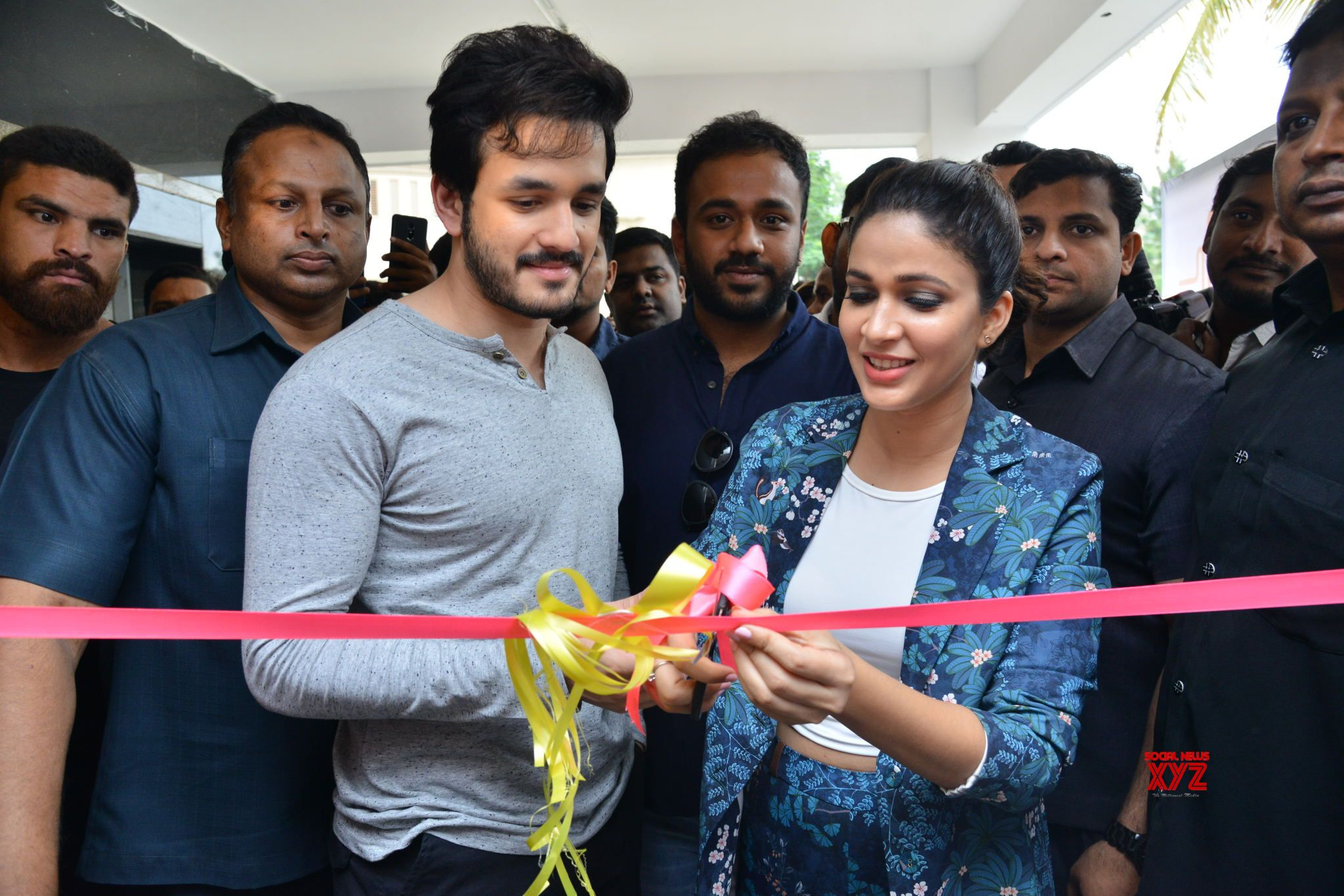 Akhil Akkineni And Lavanya Tripathi Launches Virtu Fitness ...