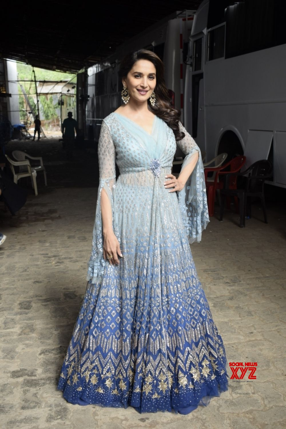 Mumbai: Madhuri Dixit on the sets of