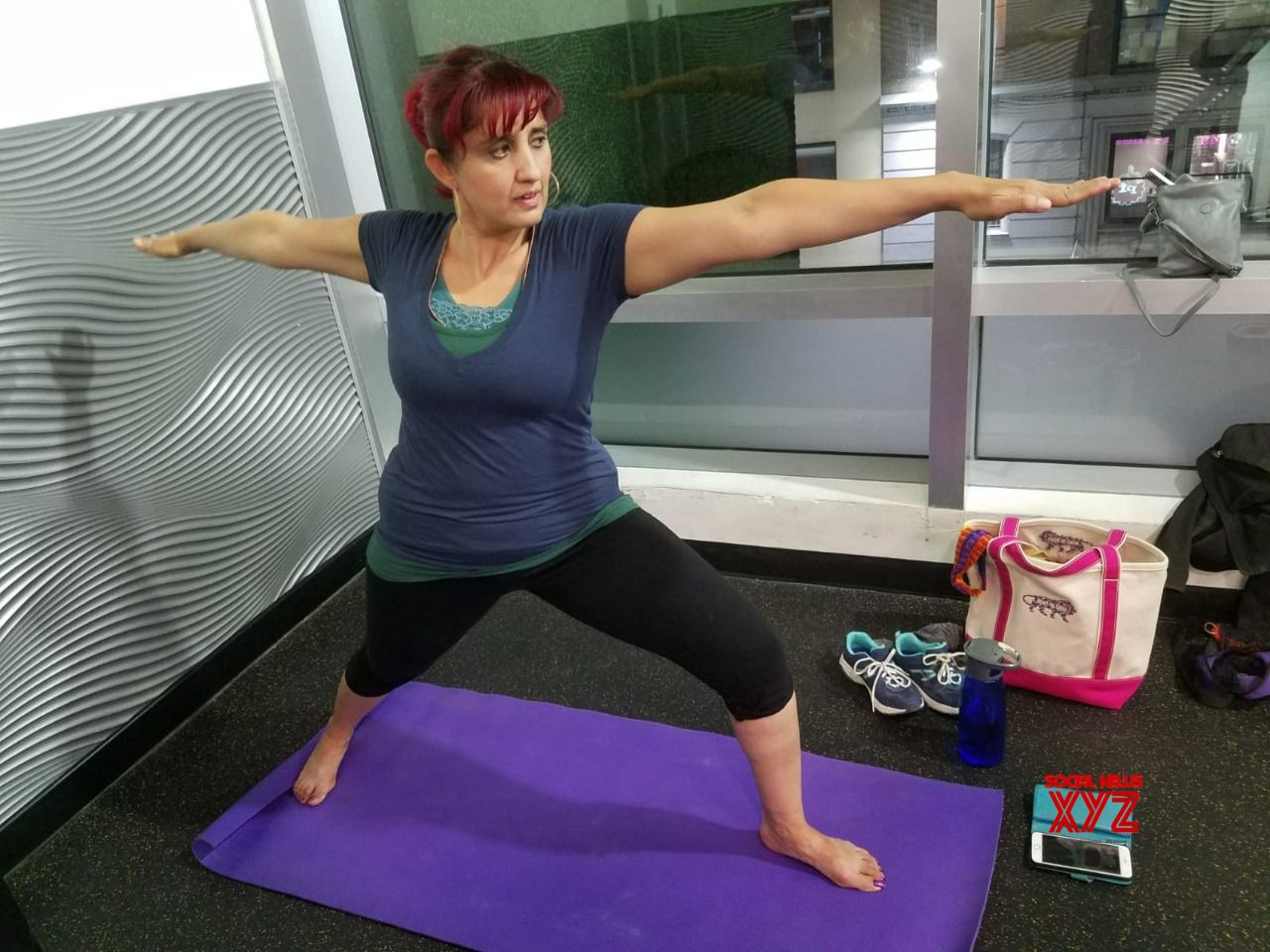 Actress Jyoti Singh Celebrates International Yoga Day In New York