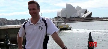 Sydney: Former England captain Michael Vaughan during an ICC World Cup 2015 ​programme organised at the Sydney Opera House in Sydney, Australia on March 24, 2015. (Photo: IANS/Video Grab)