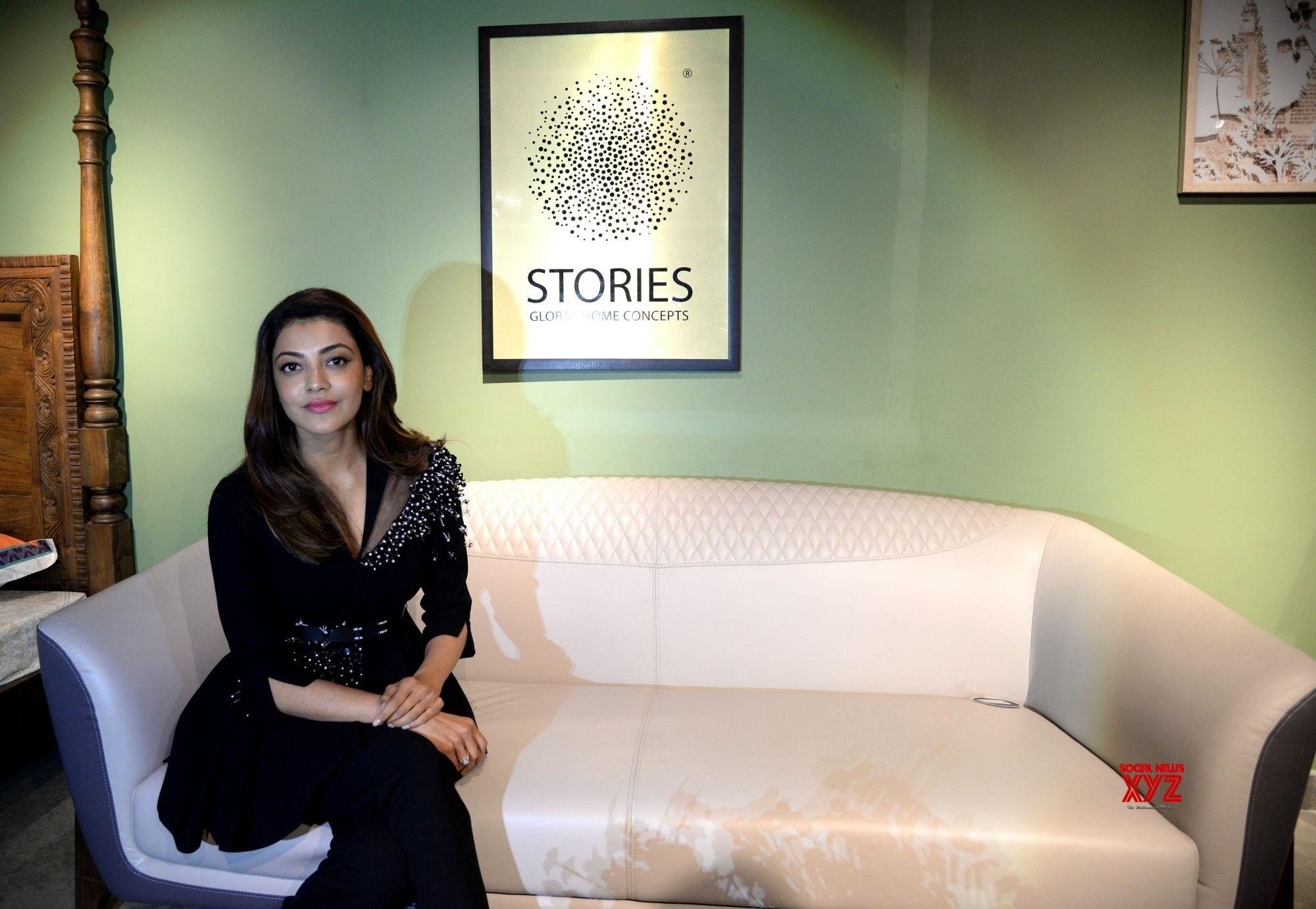 Bengaluru: Actress Kajal Aggarwal at the launch Dubai based Bronet Group's global home concept showroom in Bengaluru on Aug 11, 2018. (Photo: IANS)