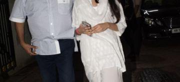 Mumbai: Filmmaker Boney Kapoor along with daughter Janhvi Kapoor arrive at son Arjun Kapoor's residenc, in Mumbai on Aug 11, 2018. (Photo: IANS)