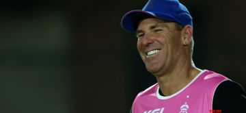 Jaipur: Mentor of Rajasthan Royals Shane Warne during a practice session in Jaipur, on April 10, 2018. (Photo: Surjeet Yadav/IANS)