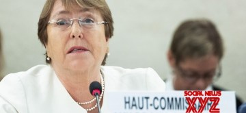 Michelle Bachelet, United Nations High Commissioner for Human Rights speaks at the at the Human Rights Council session on Monday, September 10, 2018. (Photo: UN/IANS)