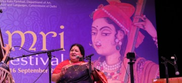 New Delhi: Singer Shubha Mudgal performs during Thumri Festival in New Delhi on Sept 14, 2018. (Photo: IANS)