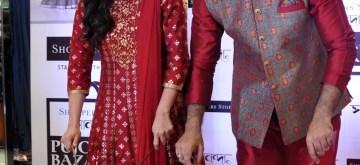 Kolkata: Actors Raima Sena and Abir Chatterjee during a promotional programme in Kolkata on Sept 14, 2018. (Photo: IANS)