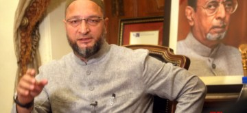 Hyderabad: AIMIM President Asaduddin Owaisi talks to the media, in Hyderabad on Sept 19, 2018. (Photo:IANS)