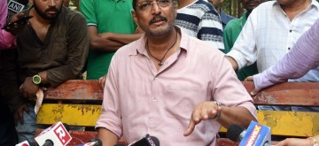 "Mumbai: Actor Nana Patekar addresses a press conference regarding sexual harassment allegations levelled by actress Tanushree Dutta against him, in Mumbai on Oct 8, 2018. He maintained that the ""truth"" he spoke 10 years ago regarding Tanushree Dutta's accusation of sexual harassment on the sets of a 2008 film, stands true today and will continue to be. Beyond that he said that his lawyer has advised him not to talk about the matter. (Photo: IANS)"