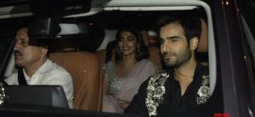 Mumbai: Actors Karan Tacker and Pooja Hegde at filmmaker Karan Johar's Diwali party in Mumbai's Bandra on Nov 7, 2018. (Photo: IANS)