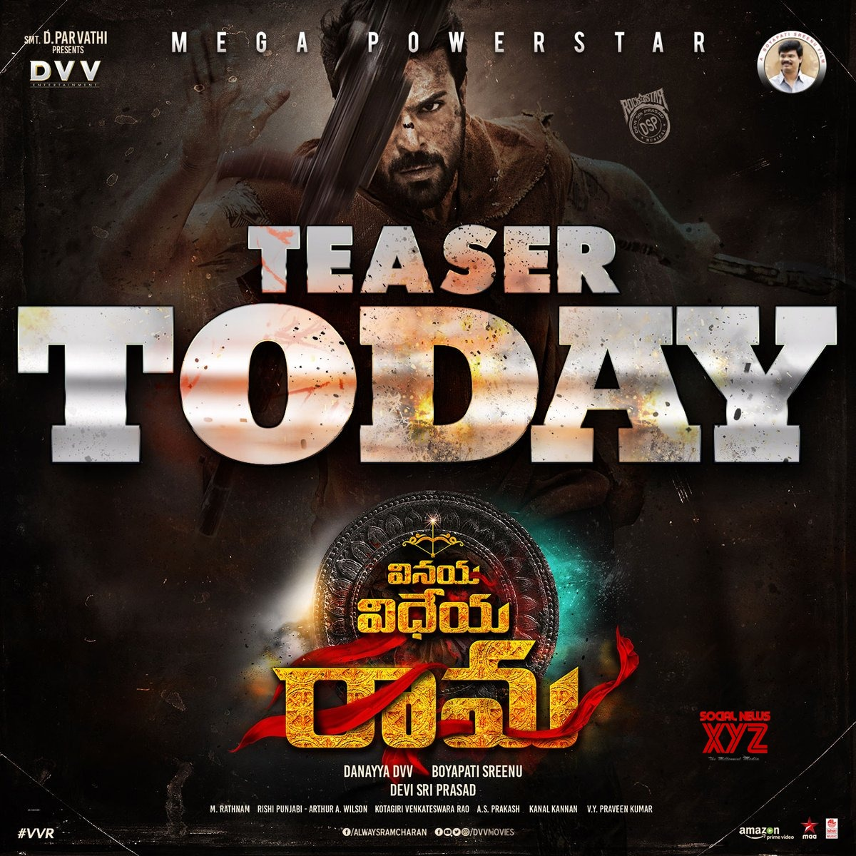 Vinaya Vidheya Rama Movie Teaser Today At 10:25 AM - Poster
