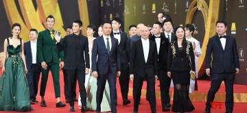 "FOSHAN, Nov. 10, 2018 (Xinhua) -- The cast and crew members of the films ""Operation Mekong"" and ""Operation Red Sea"" attend the red carpet ceremony of the 27th China Golden Rooster & Hundred Flowers Film Festival in Foshan, south China's Guangdong Province, Nov. 10, 2018. The red carpet ceremony of the 27th China Golden Rooster & Hundred Flowers Film Festival was held here on Saturday. (Xinhua/Deng Hua/IANS)"