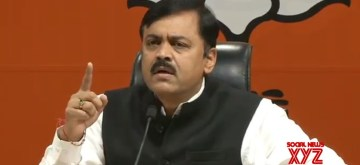 New Delhi: BJP leader GVL Narasimha Rao addresses a press conference, in New Delhi on Oct 15, 2018. (Photo: IANS)