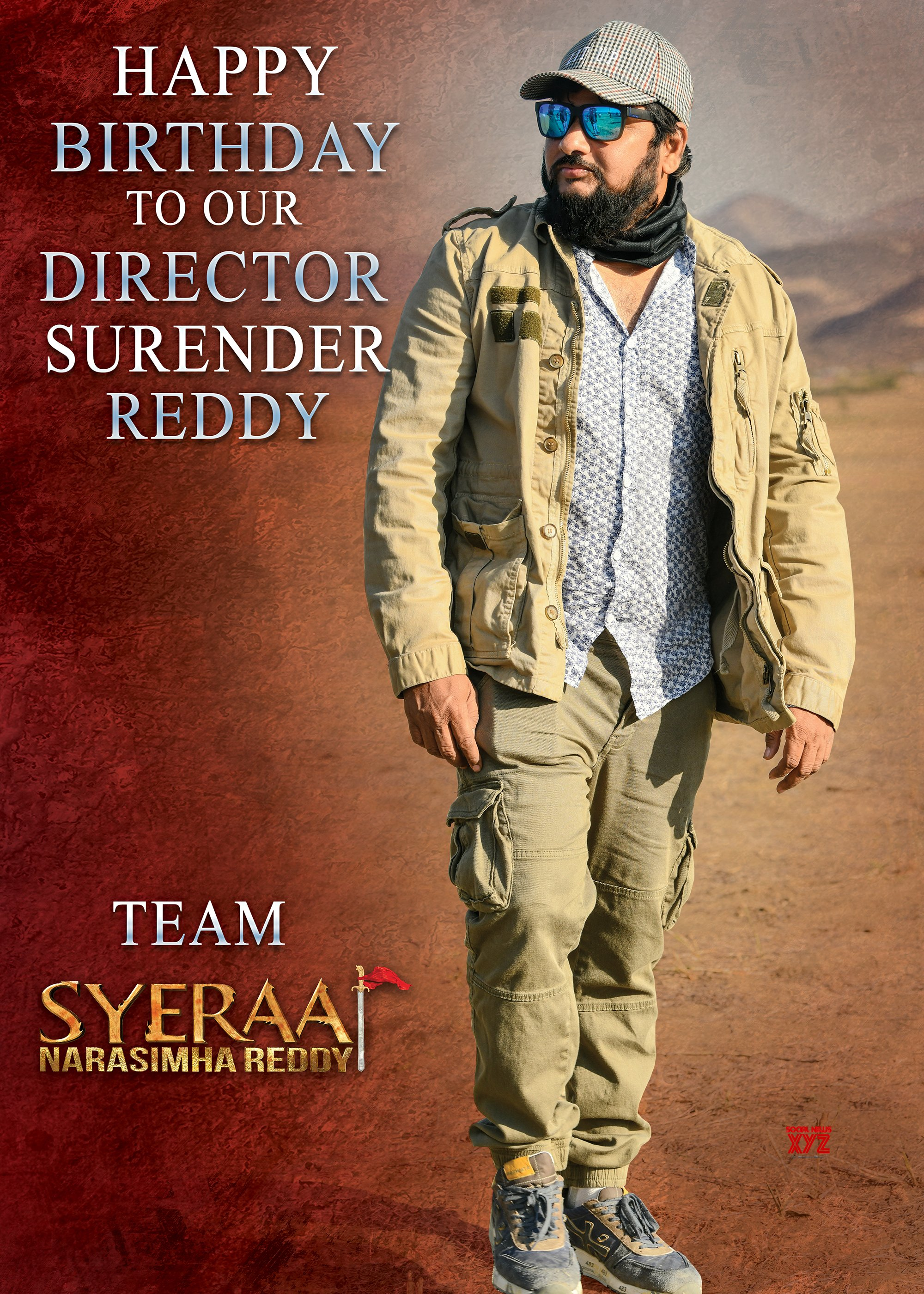 Director Surender Reddy Birthday HD Poster From Team Sye Raa