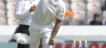 Hyderabad: Ravichandran Ashwin of India in action on Day 1 of the Second Test match between India and West Indies at Rajiv Gandhi International Stadium in Hyderabad on Oct 12, 2018. (Photo: Surjeet Yadav/IANS)