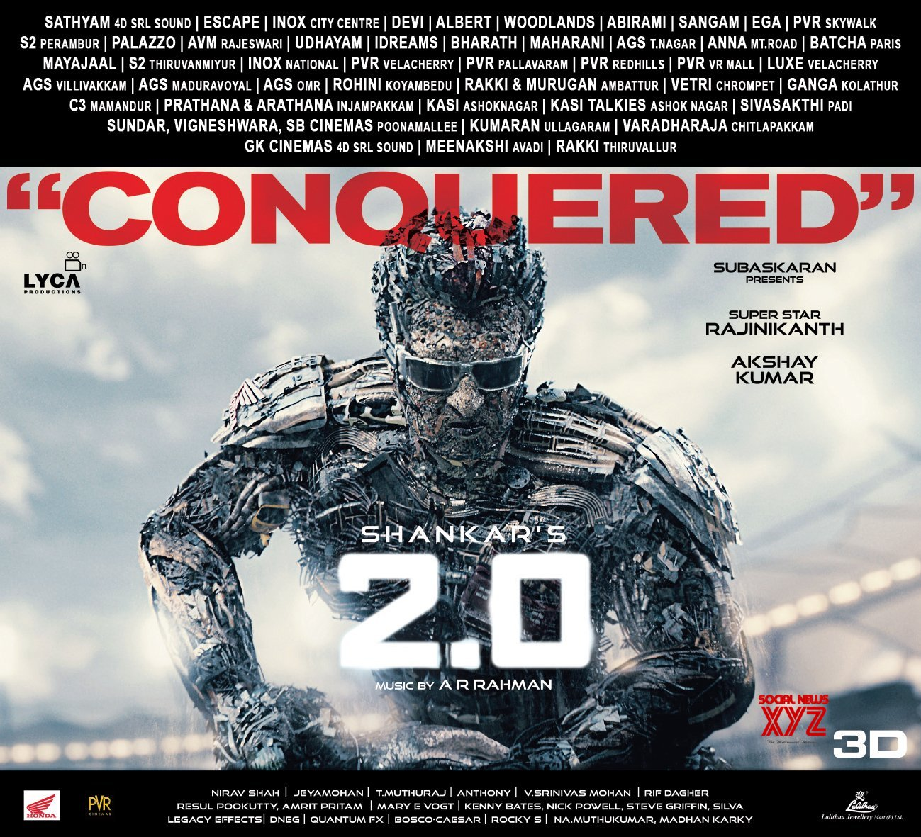 2.0 Movie Conquered Posters