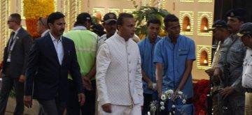 Mumbai: Reliance ADAG Chairman Anil Ambani at the wedding ceremony of his niece Isha Ambani and Anand Piramal at Antilia in Mumbai on Dec 12, 2018. (Photo: IANS)