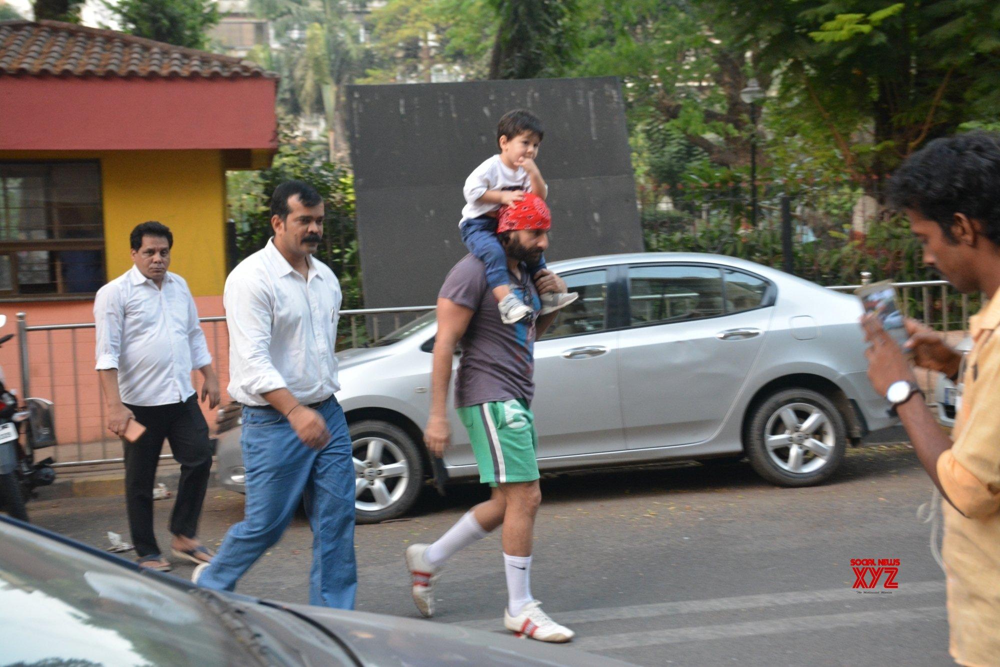 Mumbai: Saif Ali Khan with his son Taimur #Gallery